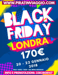 Black Friday Londra da 170€