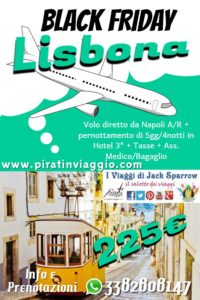 Black Friday – Lisbona da 225€