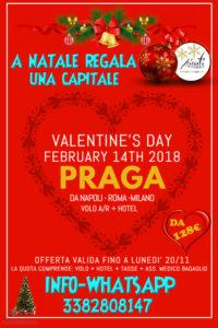 """A Natale regala una capitale """"San Valentino a Praga da 128€"""""""