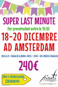 Dicembre ad Amsterdam da 240€