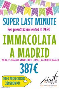 Immacolata a Madrid da 387€