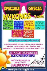 Agosto a Mykonos da 603€