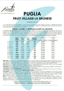 Fruit Village La Brunese – Puglia Torre dell'Orso (LE)