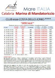 Club esse Costa dello Jonio 4* – Marina di Mandatoriccio (Calabria)