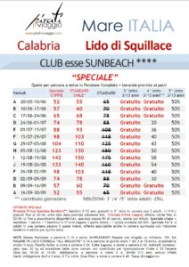 Club esse Sunbeach 4* – Lido di Squillace (Calabria)
