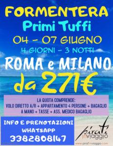 """Formentera """"Primi Tuffi"""" da 271€"""