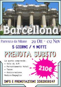Halloween a Barcellona da 155€
