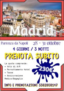 Halloween a Madrid da 230€
