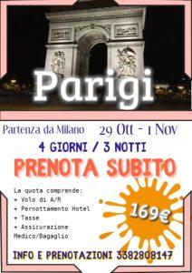 Halloween a Parigi da 169€