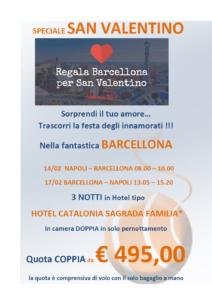 San Valetino a Barcellona da 248€
