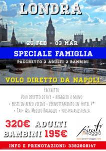 Speciale Famiglie – Londra da  195€