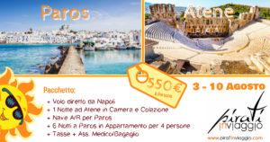 Atene e Paros ad Agosto da 550€