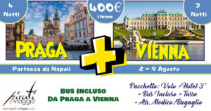 Praga e Vienna ad Agosto da 400€