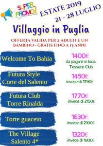 2 Adulti e un Bambino Gratis – Villaggio in Puglia da 1300€