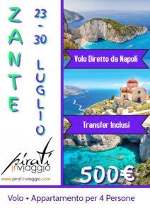Estate 2019 a Zante da 500€
