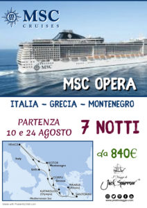 Agosto in Crociera da 840€ – a bordo di MSC Opera