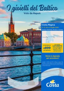 I Gioielli del Baltico – Costa Crociere – con Volo da Napoli