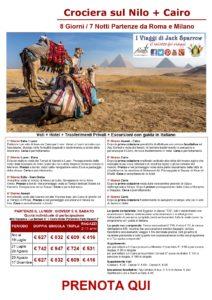 Crociera sul Nilo & Il Cairo da 609€ Tutto INCLUSO