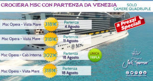 MSC Opera da VENEZIA in Camera Quadrupla