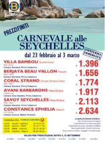 Carnevale alle Seychelles