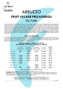 SPECIALE neve in Abruzzo Fruit Village