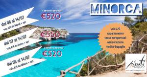 Baleari con volo da Napoli – Minorca e Maiorca