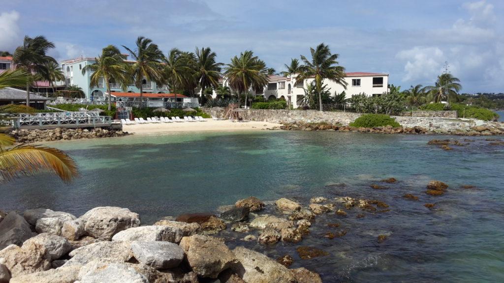 Vista mare dell'hotel Ocean Point Resort & Spa Antigua