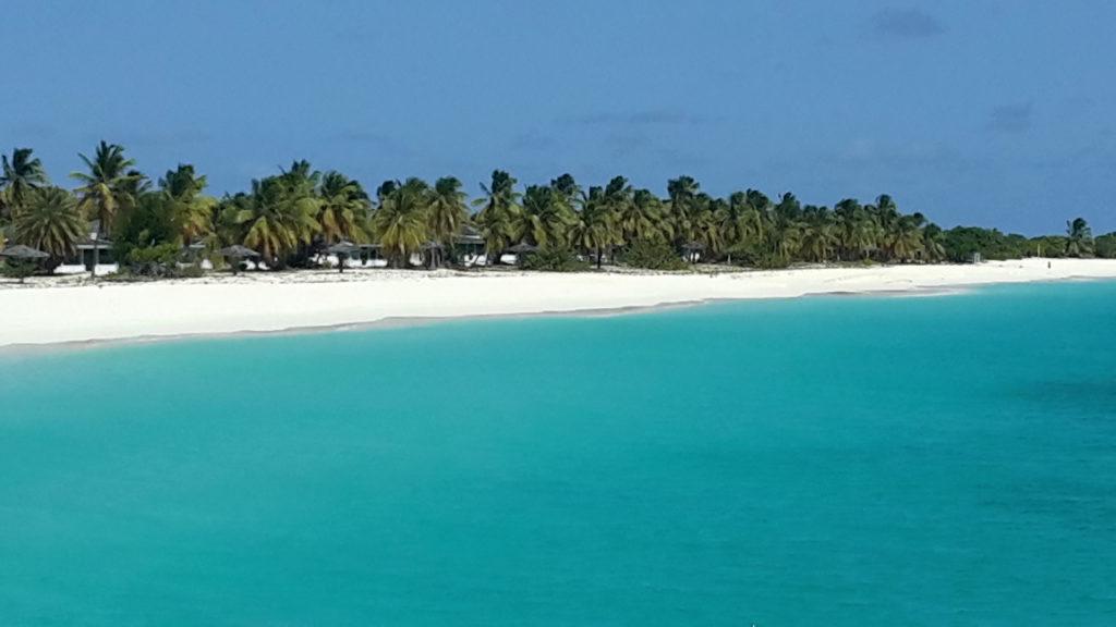 La spiaggia di Lady Diana nell'isola di Barbuda Antigua