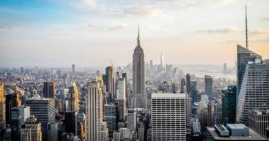 Vista di New York City