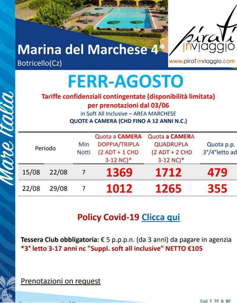 Prezzi Marina del Marchese
