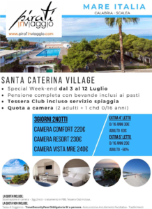 Special Week-end a Scalea a partire da 220€