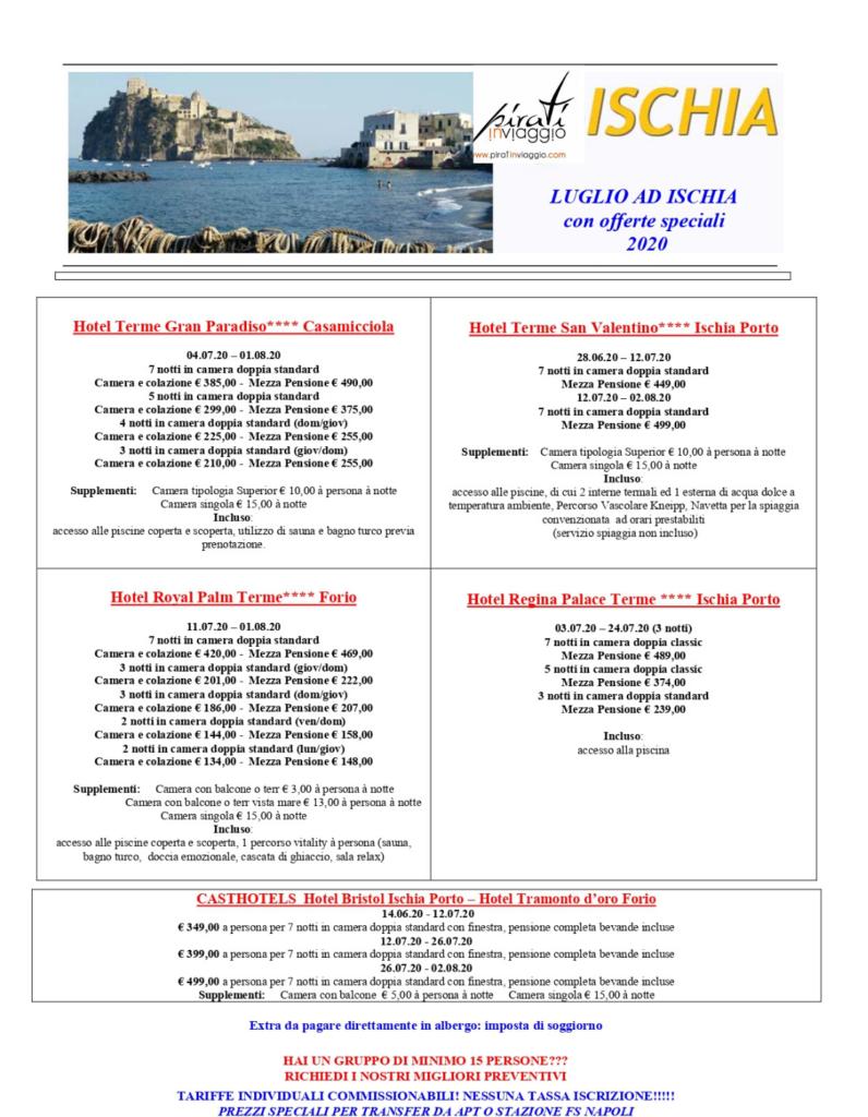 Offerte Luglio 2020 a Ischia
